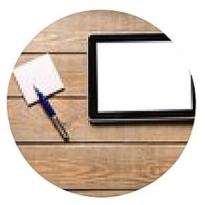 alfombrilla de ratón Ipad. equipo de tableta digital con papel de nota adhesiva y una taza de - ronda - 20cm