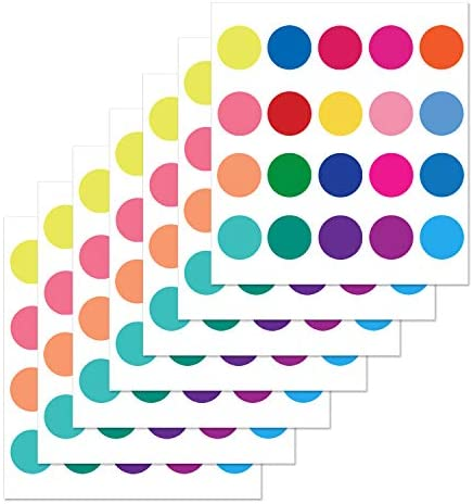 PARLAIM Rainbow Nursery Stickers Multicolor