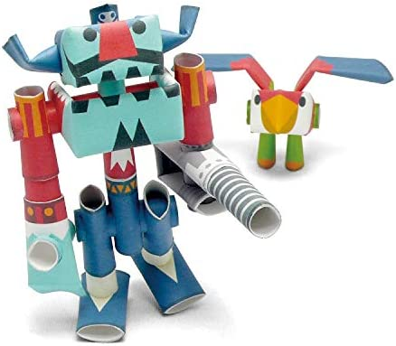 Pirate /& His Partner PIPEROID Captain Drill /& Repeat Paper Craft Robot kit from Japan Old Package