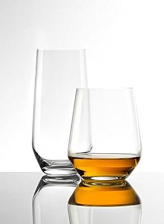 Vaso para whisky o agua Revolution de Stölzle Lausitz, de 370 ml, juego de 6, aptos para lavavajillas