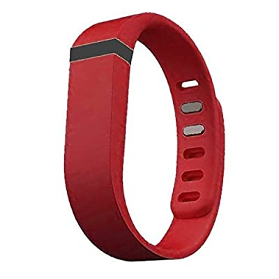 Best_Express Set 1pc Small S Replacement Band with Clasp for Fitbit FLEX Only /No tracker/ Wireless Activity Bracelet Sport Wristband Fit Bit Flex Bracelet Sport Arm Band Armband (Rose Red)