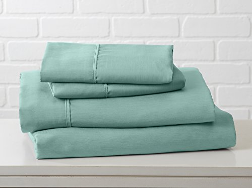 Luxury Ultra Soft Bamboo Sheet Set. Spa-Quality, Comfortable, All-Season Bed Sheets. By Great Bay Home Brand. (Twin, Dusty Jade Green)