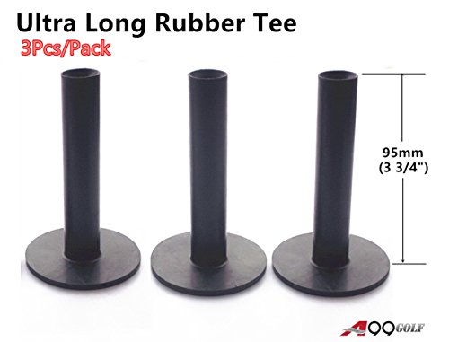 A99 Golf Ultra Long Rubber Tee Black 3 3/4