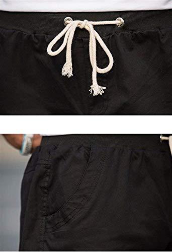 Chándal Cortos Holgados Hombre Jogging Ocio Cómodos Fashion Pantalones De Deportivos Ropa Shorts Hx Tamaños Negro Monocromo Joggers qB1wRW7nU