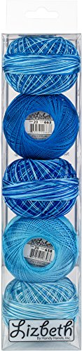 Handy Hands Lizbeth Specialty Pack Cordonnet Cotton Size 20-Turquoise Twist 5/Pkg by Handy Hands