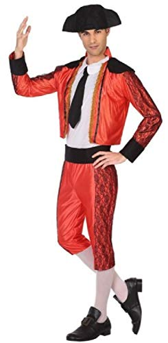 Mens Traditional Matador Spanish Bullfighter Carnival International Stag Do Fancy Dress Costume Outfit with Hat (X-Large)]()