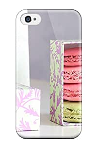 Durable Defender Case For Iphone 4/4s Tpu Cover(macarons)
