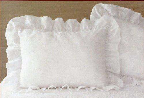 Levinsohn Textile Ruffled Lace European Pillow Sham ~ - Lace Textile Lining