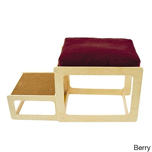 The Savvy Pet Lacey's Lookout Small Pet Natural Window Seat Red by Pet Savvy