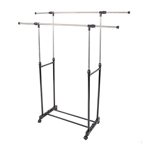 Mefeir Free Standing Clothes Drying Racks with Lockable Whee