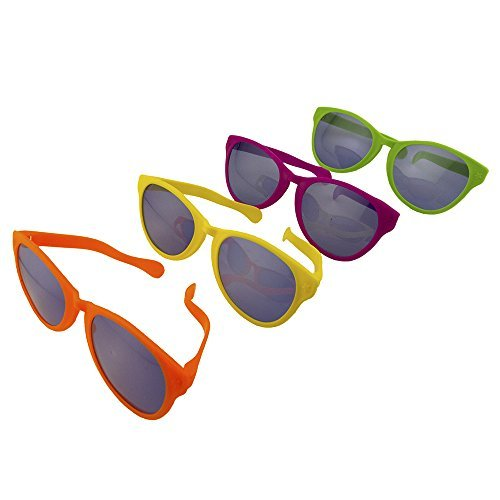 Adorox 12 pack Jumbo Novelty Sun Glasses - Parties, Raves, Joke Sunglasses Party -