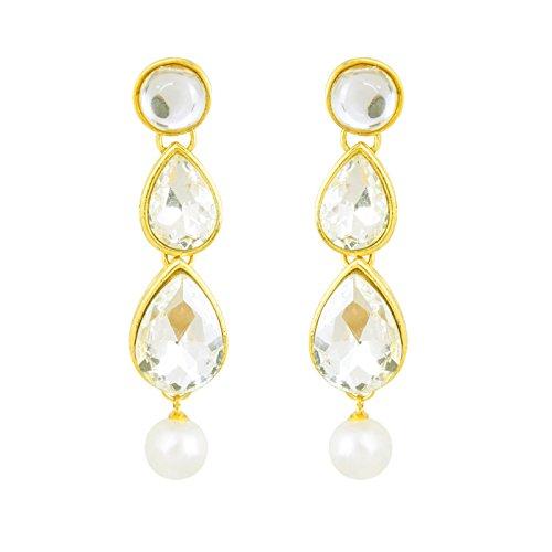 Fasherati Royal Wedding Kundan Set With Pearl Drops For Women