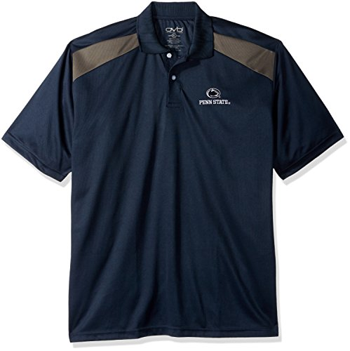 Old Varsity Brand NCAA Penn State Nittany Lions Men's CTR Logo Polo Shirt, Small, Navy/Charcoal ()