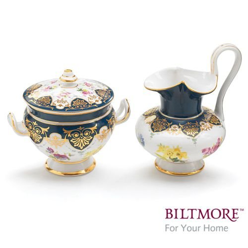 China Porcelain Sugar Bowl (Vanderbilt Porcelain Sugar Bowl and Creamer Set Designed From Biltmore House Sevres Tea Collection)