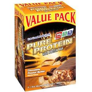 Protéines pures chocolat Peanut Butter Bars Valeur pack 6-50 Gram (Pack de 2)