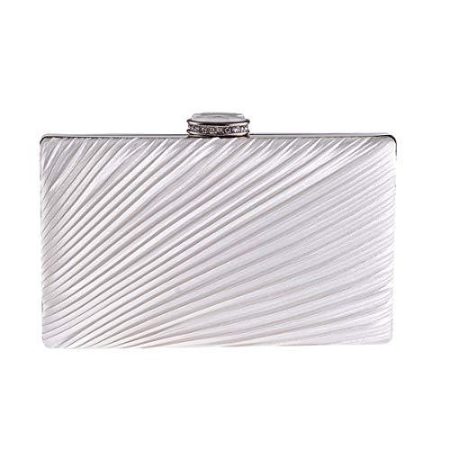 soirée Silver Pochette Color Petite Pliant Diamant Sac Sac Mini White carrée de Kakjpsjaksml Tissu en fpYwTq6w