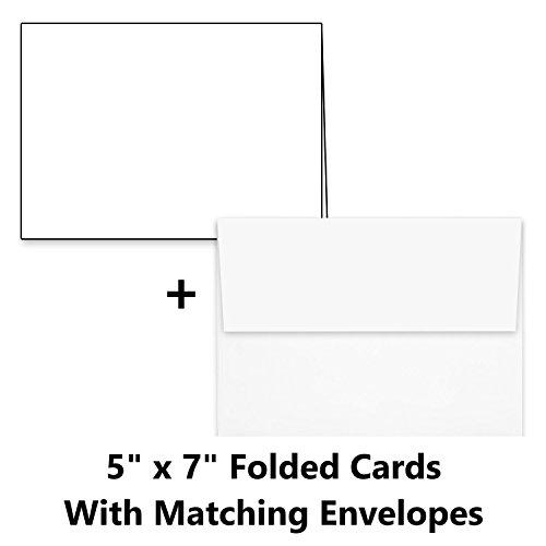 Hamilco White Cardstock Thick Paper - 5 x 7