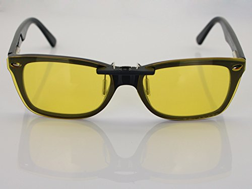 17758858433db Custom Fit Polarized CLIP-ON Sunglasses For Ray-Ban RB5228 53X17 HD Yellow