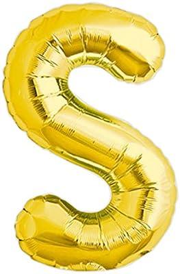 Globo gigante de helio con adhesivos letra S