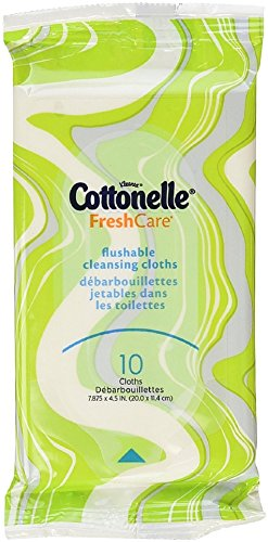 Cottonelle Fresh Care Flushable Moist Wipes Travel Pack, 10