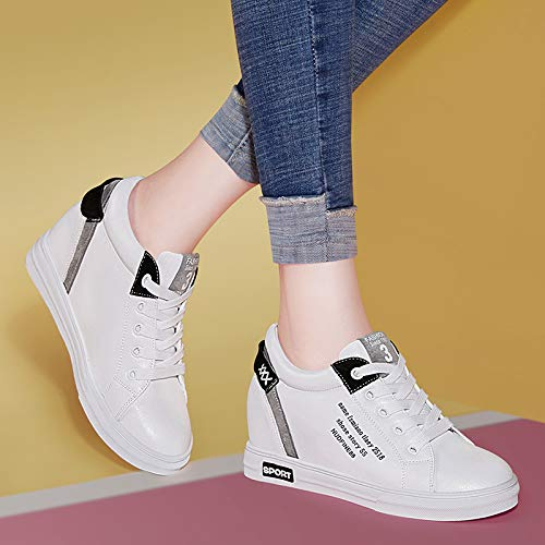 Street Women'S black 36 Shoes Joker Shoes White Flat Small Bottom SFSYDDY Inside Casual Higher OxvI7TPwq