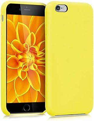 kwmobile Funda compatible con Apple iPhone 6 / 6S - Carcasa de [TPU] para móvil - Cover [trasero] en [amarillo neón]