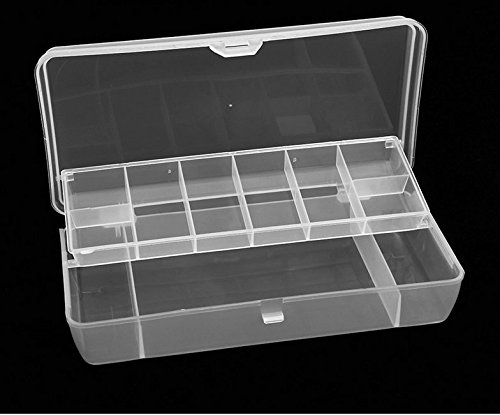 Fishcm 2 Layer 11 Compartments Waterproof Visible Plastic Clear Fishing Lure Bait Hooks Tackle Accessory Storage Box Case
