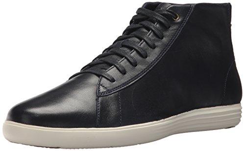 Cole Haan Mens Grande Crosscourt Alta Top Sneaker In Pelle Blu Scuro