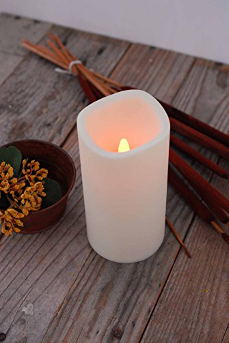 6 Pieces of 3X6 Pillar Flameless Led Resin Candle Light With Timer 6in. Tall By 3in. Wide 5 Hour Timer & On/Off Switch 3 Aaa Batteries /Included (Pillar Triple Led)