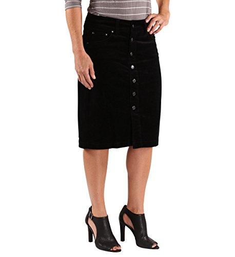Jag Jeans Women's Hazel Cord Skirt, Black, 12 - Jag Jeans Corduroy Jeans