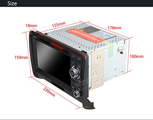 XTRONS 7 Inch Android 6.0 Octa-Core Capacitive Touch Screen Car Stereo Radio DVD Player GPS CANbus Screen Mirroring Function OBD2 Tire Pressure Monitoring for Audi TT MK2 by XTRONS (Image #8)