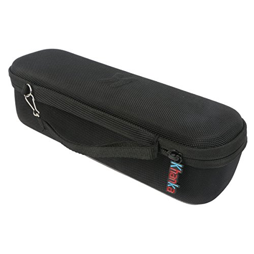 Khanka Hard Travel Carrying EVA Case Bag For Beats By Dr. Dre Beats Pill+ Pill Plus Portable Wireless Bluetooth Speaker - Black. Fits Lighting Cabel and Wall Charger