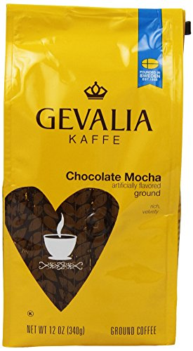 Gevalia Roast and Ground Coffee, Choc Mocha, 12 Oz