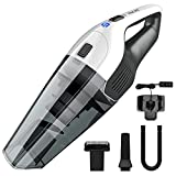 Hand Vacuum Cleaner, HOLIFE Cordless Handheld Vacuum Portable Car Vacuum Cleaner Lightweight Hand Vac with Rechargeable 2200mAh Lithium Battery, Multifunctional Attachments, HEPA Filter