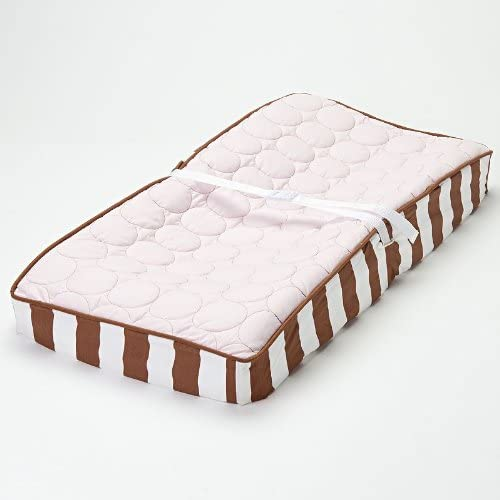 Quilted Circles Pink/Choc Changing Pad Cover by Bacati