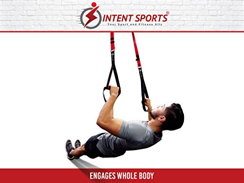 Bodyweight Fitness Resistance Trainer Kit with Pro Straps for Door, Pull up Bar or Anchor Point. Lean, Light, Extra Durable for Complete Body Workouts. E-Book ''12 Week Program'' (Patent Pending) by INTENT SPORTS (Image #6)