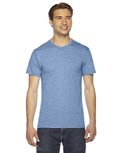 - American Apparel TR401W Unisex Triblend Short-Sleeve Track T-Shirt Athletic Blue M