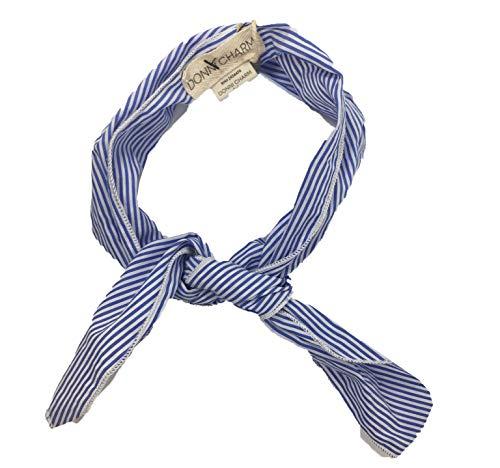 Designer Handbag Gigi - Donni Charm Gigi Blue & White Stripe Neckerchief/Handbag Accessory Scarf