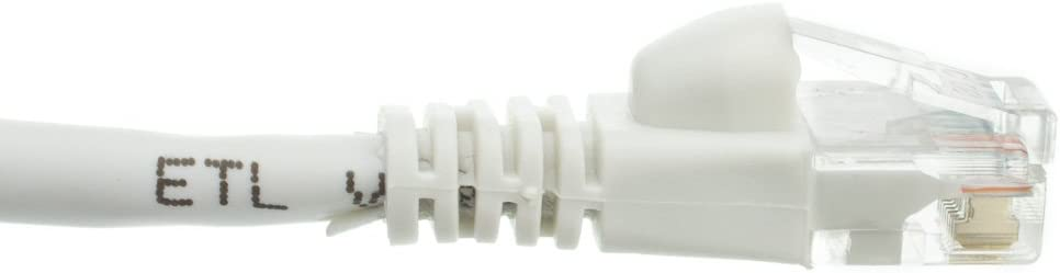 Snagless//Molded Boot eDragon 7 Cat5e White Ethernet Patch Cable ED694708 Pack of 1