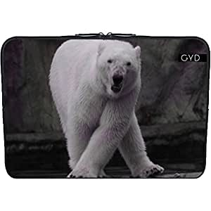 "Funda de neopreno portátil 13.3"" pulgadas - Bailando Oso Polar by More colors in life"