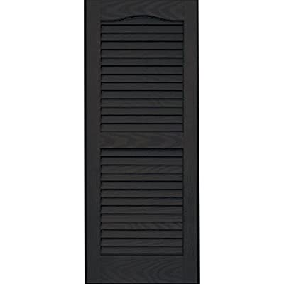 Vantage 0114035046 14X35 Louver Arch Shutter/Pair 046, Chocolate Brown from The TAPCO Group - DROPSHIP