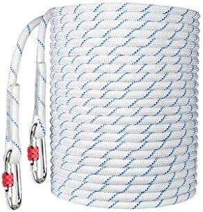 ZHWNGXO Außensicherungsseil, 12mm Verschleißfesten Soft-Double-Layer-Weaving Geringe Elastizität Weiß 10m (Size : 10m)