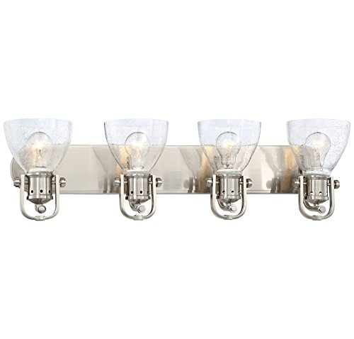 Minka Lavery Minka 3414-84 Transitional Four Light Bath in Pwt, Nckl, B/S, Slvr.Finish B/S - Minka Lavery Vanity Lighting
