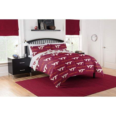 (Official Virginia Tech Hokies Queen Bed in Bag Set)