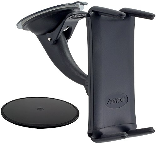 (Arkon Windshield Dash Phone Car Mount for iPhone X 8 7 6S Plus 8 7 6S Galaxy S8 Note 8 iPad mini Retail Black)