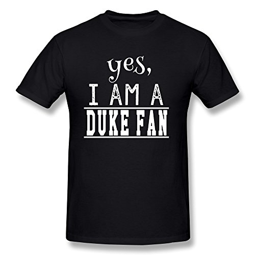 [M07H Men's Tee Shirt Yes,I AM A DUKE FAN! Blue Devils Black Size M] (Wicked Musical Costumes Sale)