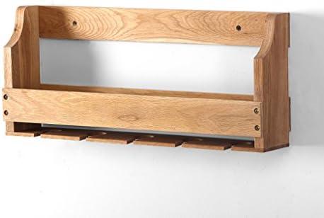 GRJH® ラック、オーク堅い木製の棚すべての木製の棚壁掛けワインラックシンプルなワインラック 防水性と耐久性
