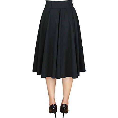Círculo negro falda elegante estrella de 1950 con lazo grande