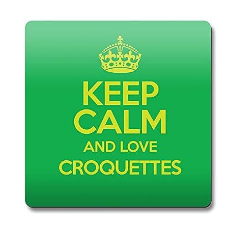 Verde Keep Calm and Love croquetas cierre magnético color 2382 ...