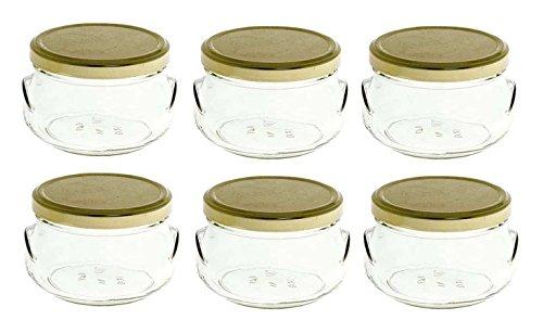 - Nakpunar 6 pcs, 6.75 oz Tureen Glass Jars for Candles, Jam, Honey, Wedding Favors, Shower Favors, Baby Foods, Canning, spices
